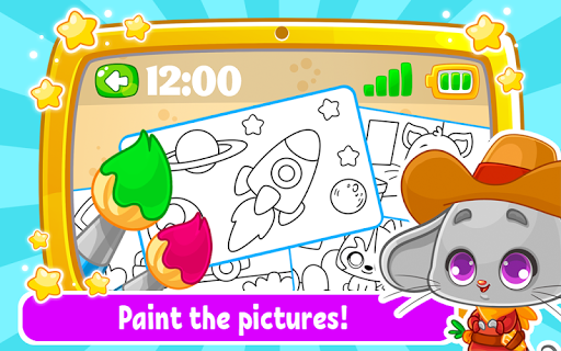 Babyphone amp tablet – baby learning games drawing mod screenshots 2