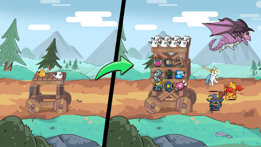 CatnRobot Idle Defense – Cute Castle TD PVP mod screenshots 2