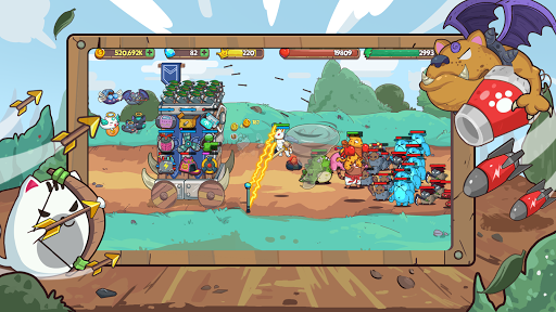 CatnRobot Idle Defense – Cute Castle TD PVP mod screenshots 4