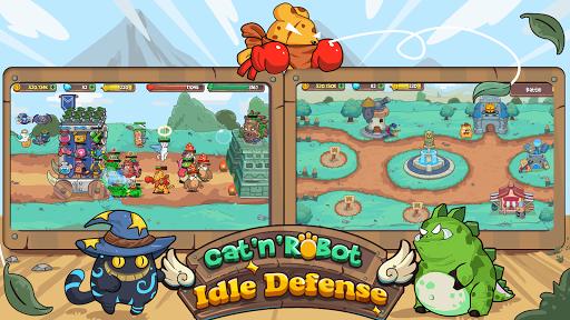 CatnRobot Idle Defense – Cute Castle TD PVP mod screenshots 5