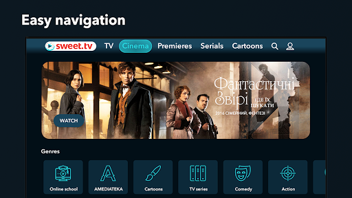 SWEET.TV for TV. 260 TV channels and TOP movies mod screenshots 5