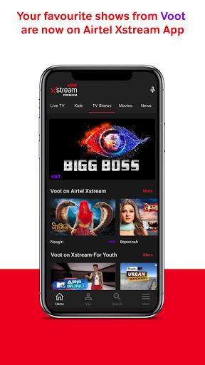 Airtel Xstream App Movies LiveTV TV Shows mod screenshots 1
