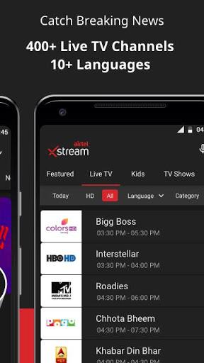 Airtel Xstream App Movies LiveTV TV Shows mod screenshots 5