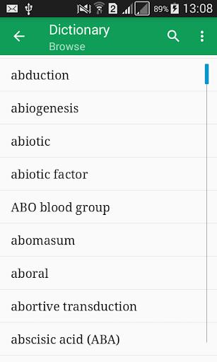 Biology Dictionary Offline mod screenshots 1