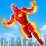 Flying Fire Hero Robot Transform: Robot Games MOD