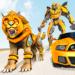 Lion Robot Car Transforming Games: Robot Shooting MOD