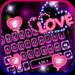Neon Love Keyboard Theme MOD