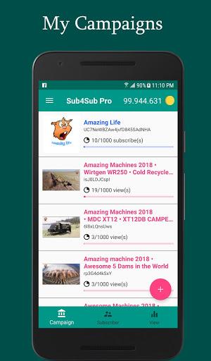 Sub4Sub Pro – View4View – Get Free Views For Video mod screenshots 1