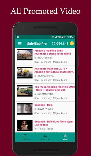 Sub4Sub Pro – View4View – Get Free Views For Video mod screenshots 2