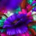 Themes app for  S6 Purple Bloom flower MOD