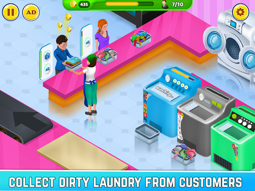 Laundry Service Dirty Clothes Washing Game mod screenshots 1