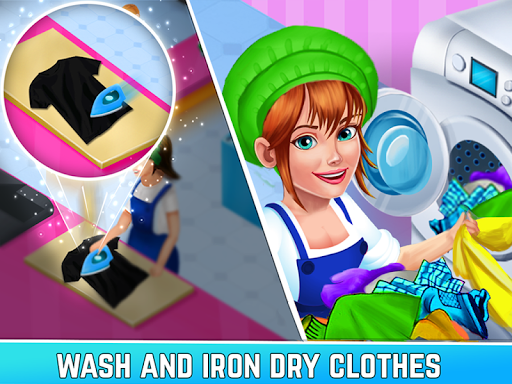Laundry Service Dirty Clothes Washing Game mod screenshots 2