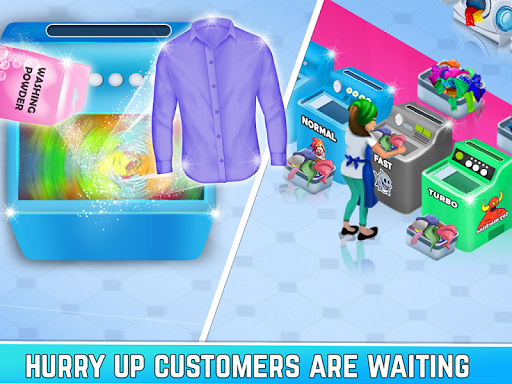 Laundry Service Dirty Clothes Washing Game mod screenshots 4
